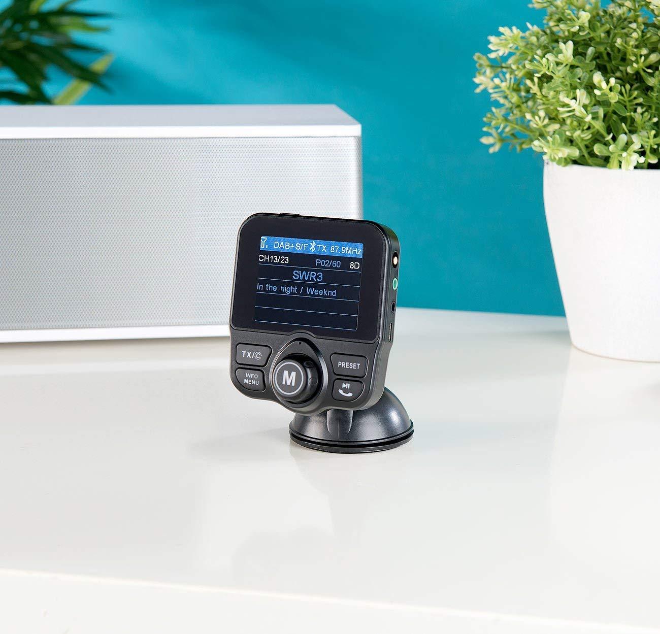 auvisio dab auto radio empf nger fm transmitter bluetooth. Black Bedroom Furniture Sets. Home Design Ideas