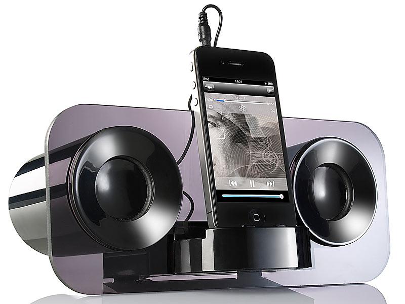 auvisio lautsprecher mss 222 smartphone handy mp3 player dockingstation klinke ebay. Black Bedroom Furniture Sets. Home Design Ideas