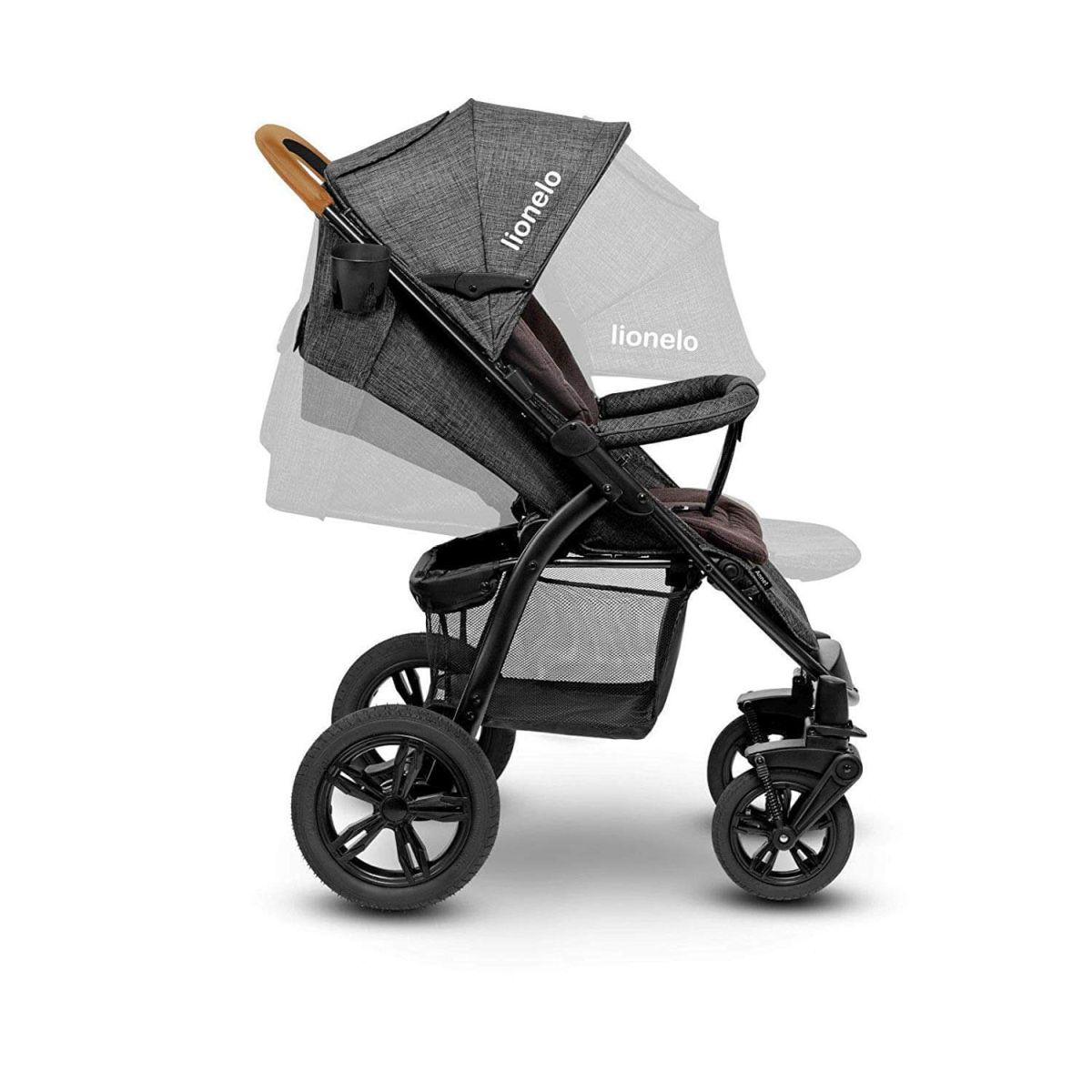 Lionelo Annette gris poussette Baby Buggy de 100/% lin caoutchouc pneus Chancelière