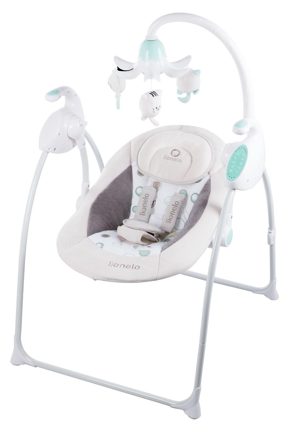 Lionelo Robin braun elektrische Babyschaukel Schaukel Wippe ...