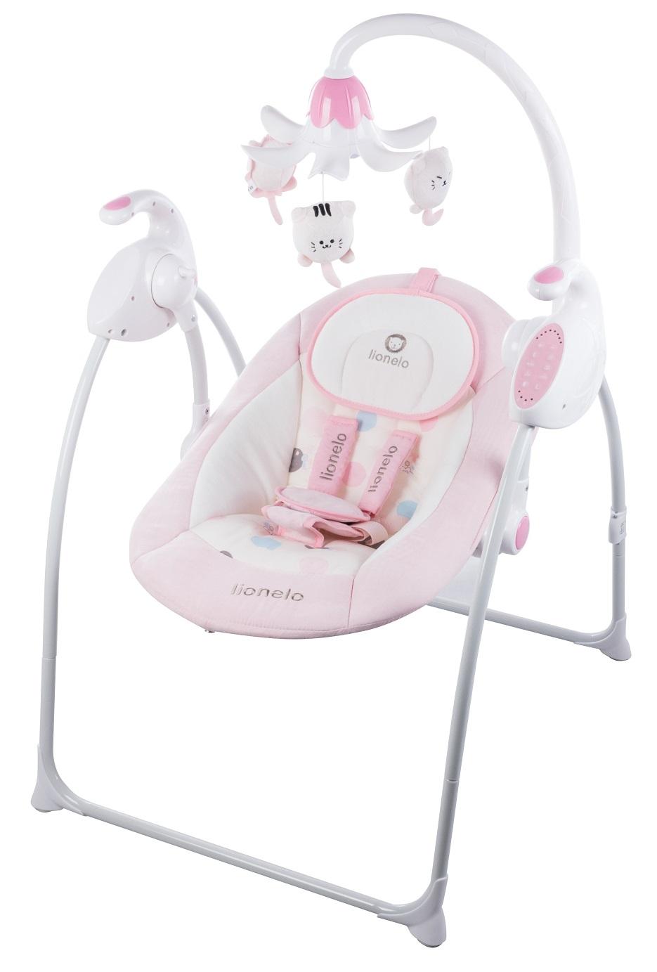 Lionelo Robin pink App-gesteuerte Babyschaukel Schaukel Wippe ...