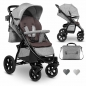 Mobile Preview: Lionelo Annet Tour Kinderwagen grau Gesamtansicht