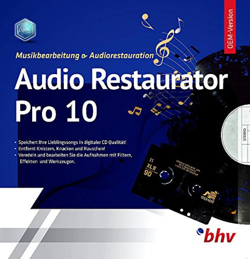 Audio Restaurator Pro 10 Software Vorderseite
