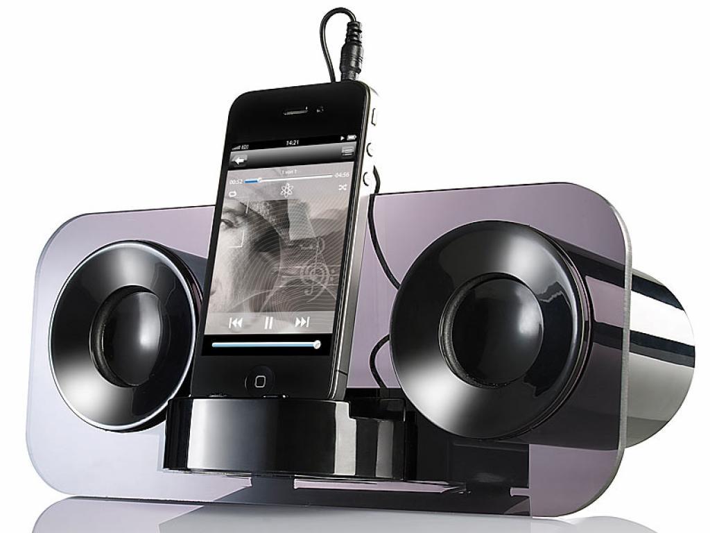 auvisio mss 222 lautsprecher f r iphone. Black Bedroom Furniture Sets. Home Design Ideas
