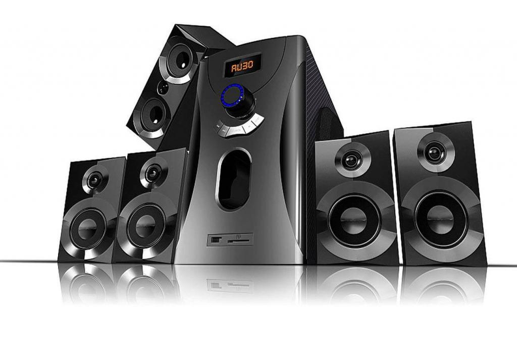 Auvisio Surround-Sound-System 5.1 Home-Theater, 160 Watt, MP3, Radio, schwarz, Lautsprecher Subwoofer