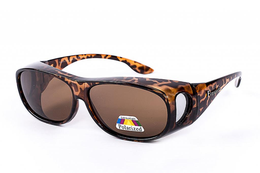 Figuretta Überbrille Sonnenbrille in Leoparden Optik