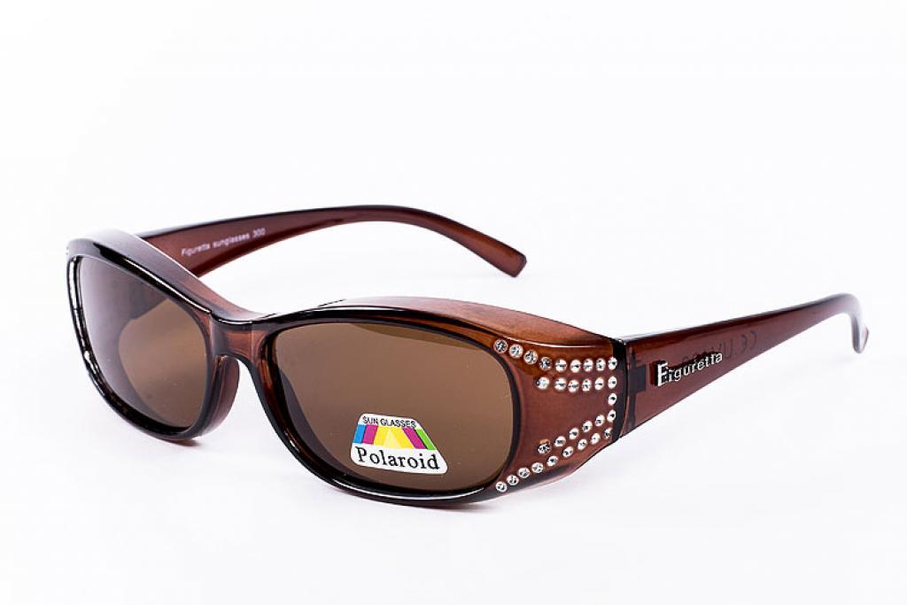 braune Strass Sonnen-Überbrille von Figuretta