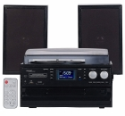 auvisio PLATTENSPIELER MHX-640.bt DAB+/FM-Radio, Lautsprecher, Bluetooth & CD-Player, 100 Watt