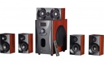 auvisio Holzoptik 5.1 Home-Theater Surround-Sound-System, 160 Watt, MP3/Radio